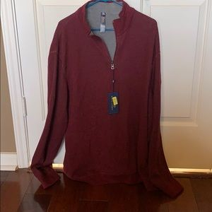 Maroon 1/4 Zip classic Polo pullover